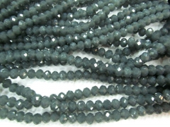 wholesale 5strands 4x6 5x8 6x10mm Crystal like czech bead Rondelle Abacus Faceted Dark grey gray bea