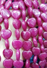 ruby red jade 10-16mm full strand Jade Heart Love Faceted Beads cherry purple hot red green Sapphire Blue Black White mixed