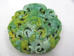 free ship--70mm(2.8inch) Ancient Jade Pendant handmade Rare Animals assortment Focal Green Red Blue