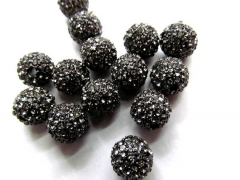 300pcs disco ball  +300pcs drum pave micro hematite