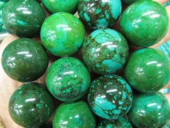 High Quality 2strands 4-12mm Tibetant Turquoise stone Round Dark Bule Green Yellow Black spacer Bead