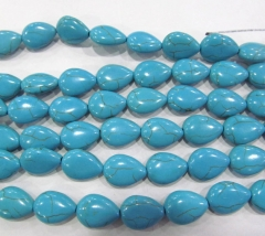 5strands 8-20mm howlite turquoise stone teardrop drop peach wholesale loose bead black turquoise bea