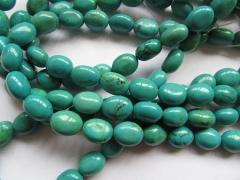 25%off--2strands 10-35mm high quality turquoise gemstone Freeform Egg Nuggets Green blue yellow loose beads