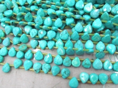 Top Drilled -- 2strands 7x10mm high quality turquoise gemstone teardrop drop faceted loose bead