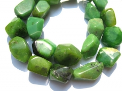 genuine chrysoprase gemstone green nuggets freeform faceted loose bead 8-20mm full strand