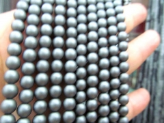 wholesale 5strands 2-10mm Hematite gem Titanium plated ,round ball grey blue silver,gold,gunmet