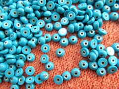 wholesale 25pcs 4-12mm gorgous MOP Shell mother of pearl Round Coin Turquoise blue e