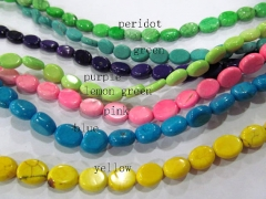 5strands turquoise Beads Turquoise stone oval egg blue Green white red yellow mixed jewelry making B