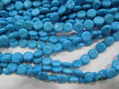 turquoise Beads Turquoise stone coin disc roundel blue Green white jewelry making Bead 6-30mm full strand