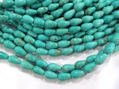 2strands 15x20mm high quality turquoise gemstone teardrop drop peach wholesale loose bead black turq