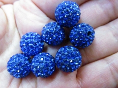 high quality 100pcs 4mm Micro Pave Clay Crystal rhinestone Round Ball lais blue gold clear white