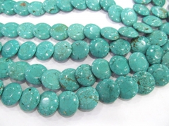 turquoise Beads Turquoise stone coin disc roundel blue Green jewelry making Bead 20mm full strand
