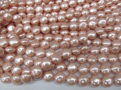 2strands 10mm pearl jewelry beads peach red white pearl beads round disc roudel coin necklace jewelry loose beads