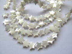 wholesale Shell Jewelry 5strands 8 10 12mm MOP white shell bead star jewelry beads