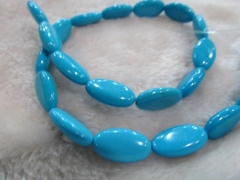 2strands 10-16mm Turquoise stone long oval marquise bead