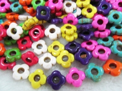 free ship--2strands 16mm Turquoise fluorial flower clove carved mixed loose bead