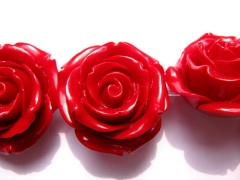 charm beads 20 25 30 36mm full strand Acrylic Resin Platic bead resin jewelry rose fluorial white re