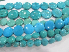 turquoise Beads Turquoise stone coin disc roundel blue Green white turquoise pendant jewelry making Bead 6-30mm full strand