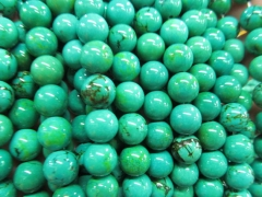 High Quality 2strands 2-20mm Tibetant Turquoise stone Round Ball Green Yellow Black spacer Bead