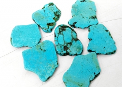 turquoise Cabochon 60-80mm 10pcs high quality turquoise gemstone Freeform slab beads