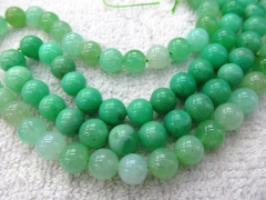 High Quality 4-10mm full strand Natural chrysoprase Opal gems Round Ball green jewelry beads