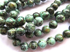 2strands Natural Africal Turquoise stone Round Ball wholesale loose beads 3-20mm
