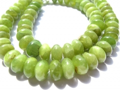 2strands 4-12mm Natural Peridot olive Chrysoprase beads gems Round rondelle lemon green jewelry bead