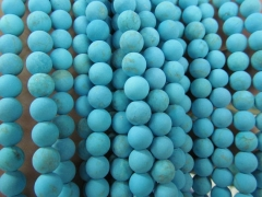 Turquoise Stone 2strands 4 6 8 10 12mm Round Ball Blue Green White Matte Crab Loose Bead
