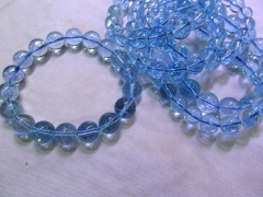 AA+ genuine 4-10mm Topaz gemstone,London Blue topaz Beads,Sky blue Topaz jewelry Bracelet
