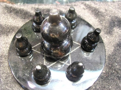 20-60mm 8sets natural Obsidian Sphere crystal round ball bottle carved rainbow obsidian gemstone +ob
