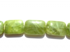 chrysoprase bead Peridot olive Chrysoprase gemstone rectanlge oval egg lemon green necklace