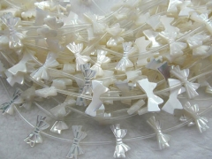 Shell Bead 2strands 12x20mm high quality Genuine MOP Shell ,white Pearl Shell butterfly charm beads
