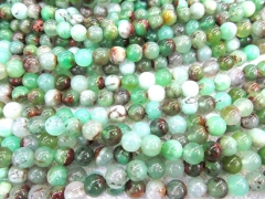 wholesale 4-10mm full strand Natural chrysoprase Opal gems Round Ball green jewelry beads