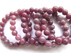 Genuine Raw Ruby Bracelet Ruby Beads gemstone ,AA grade 5 6 7 8 9 10 11 12 14 16mm 8inch round ball
