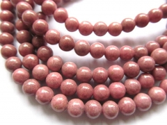 5strands 4-12mm Natural Pink rhodonite gemstone round ball jewelry loose bead