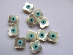 12pcs 20mm Genuine MOP Shell mother of pearl Clove fluorial beads white cabochons jewelry beads