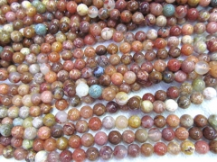 2strands 4-12mm Natural Colorful Ocean Agate Round Gemstone Beads Jewerlry Making Findings
