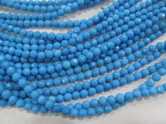 "3strands 16"" 6mm blue Turquoise stone Round  smooth beads"
