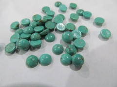free ship---high quality 24pcs 4-16mm Turquoise stone Cabochons Veins Round Ball blue Green mixed jewelry beads