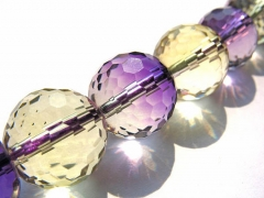 AA+ 8 10 12mm full strand Ametrine quartz Amethyst Citrine rock crystal round ball faceted briolette jewelry beads