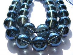 4-12mm natural quartz beads Full strand 16inch blue  Quartz grey quartz Round Ball smooth Crystal Jewelry