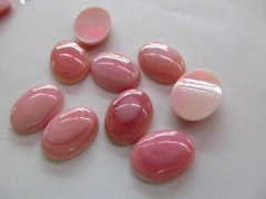 2pcs 15x20mm Conch Shell jewelry Pink red Round oval egg cabochons Conch shell Beads