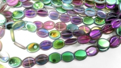 5strands 10-17mm Matte Crystal ,Crystal like earings beads egg oval Faceted Rainbow crystal Necklace Gemstone Loose Beads