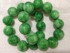 AAA grade  Natural green jade gemstone sugilite purple Round Bracelet jewelry 8inch for gift 20mm