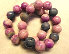 AAA grade Genuine Sugilite  Gemstone round lite purple Beaded Bracelet 8inch for gift 10\12\14\16mm