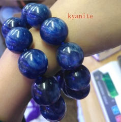 AAA grade  Natural blue kyanite Gemstone Round Beaded Bracelet 8inch for gift 10\12\14\16\18\20mm