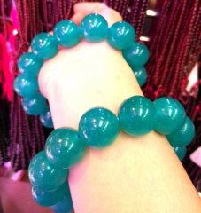AAA grade  Natural Green Amzonite gemstone Round Bracelet jewelry 8inch for gift 10\12\14\16\18\20mm