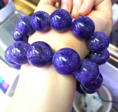 AAA grade  Natural  purple charoite  Gemstone Round Beaded Bracelet 8inch for gift 10\12\14\16\18\20mm