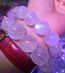 AAA grade  Natural moonstone Gemstone Round Beaded Bracelet 8inch for gift 10\12\14\16\18\20mm