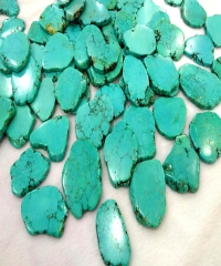 10PCS GreenTurquoise Slab Stone 40-70mm(3inch) Green Blue Phone Sockets Pop Grips Magnesite Free Form Slab Beads - Turquoise Slab